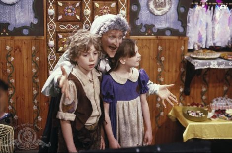 "Hugh Pollard, Cloris Leachman and Nicola Stapleton in Len Talan's ""Hansel and Gretel."" Courtesy of MGM."