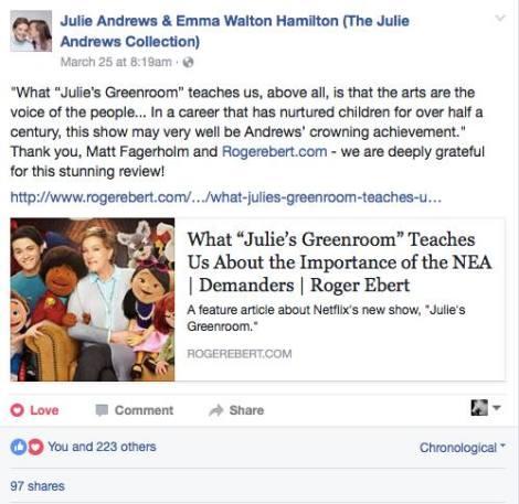 Julie Andrews thank you